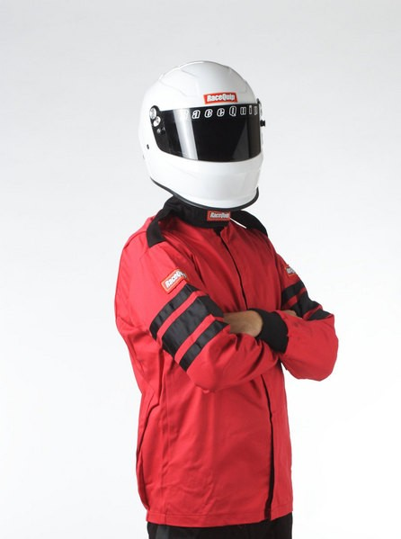 Racequip Jacket 111007; SFI-1 XX-Large SFI 3.2A//1 Single Layer Black